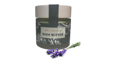 orka naturals body butter with lavender