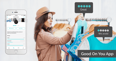 Good on you app for ethical sustainable shopping