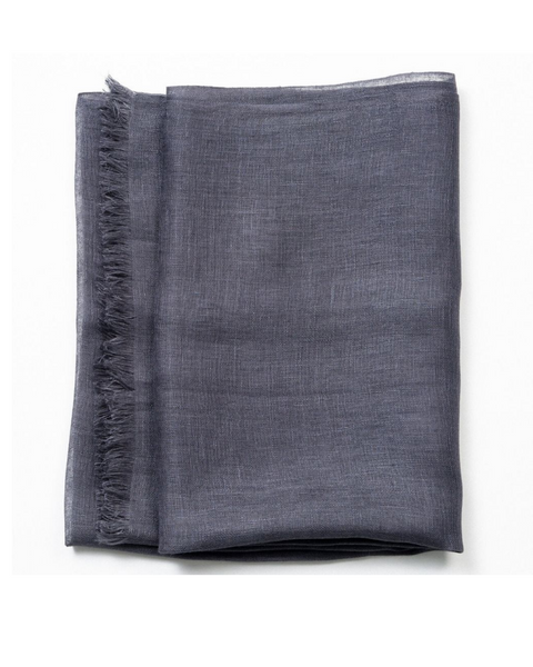 Charcoal Linen Scarf Variously