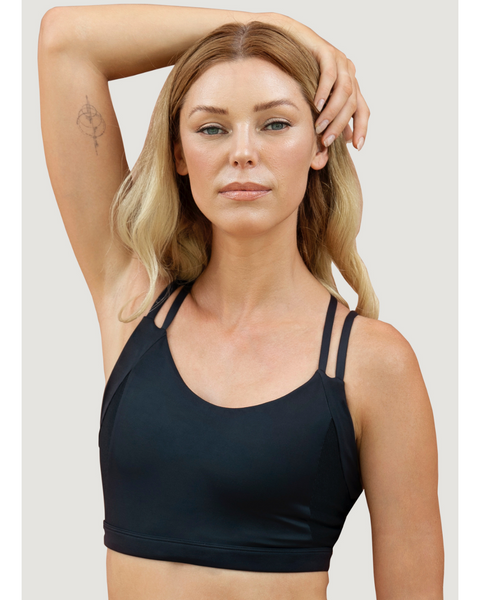 Black 1 people activewear top