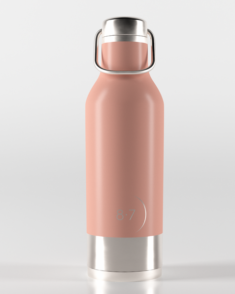 Pink stainless steal reusable water bottle for zero waste living