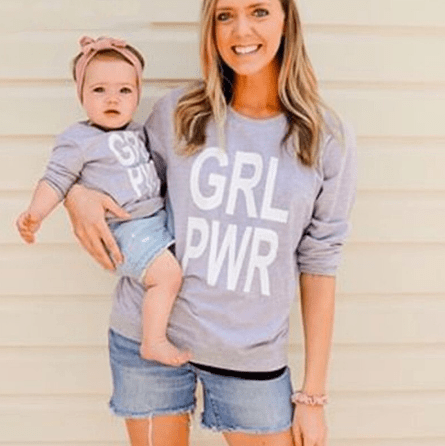 Pull mère fille girl power