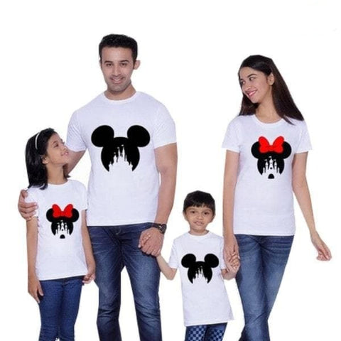 Tee shirt famille assorti disney