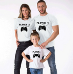 Tee shirt famille assorti gamer