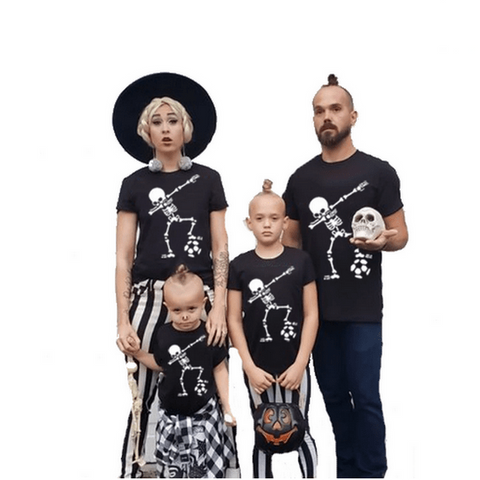 Tee shirt famille assorti halloween