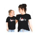 Tee shirt mère fille amour