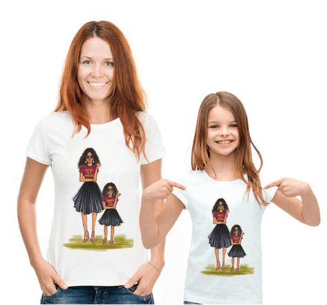 Tee shirt mère fille fashion