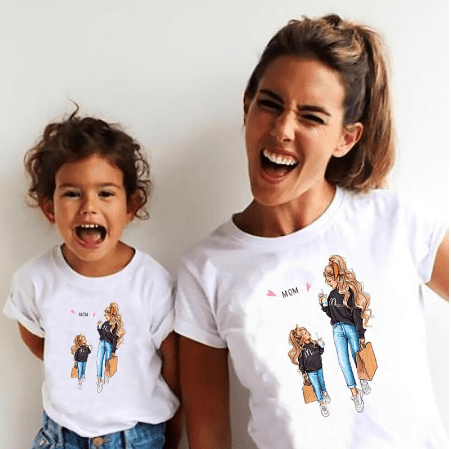 Tee shirt mère fille fastfood