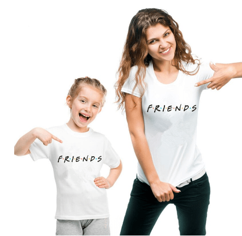 Tee shirt mère fille friends