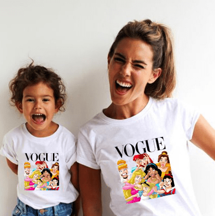 Tee shirt mère fille princesses folles