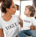 Tee shirt mère fille vogue blanc