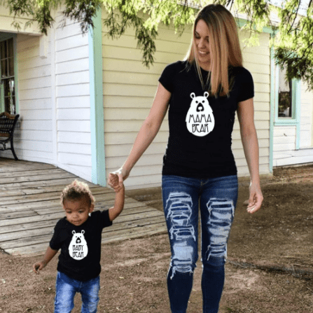 Tee shirt mère fils ours