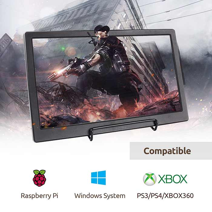 13.3'' 1920x1080 Resolution Portable Monitor Gaming Screen for Raspberry Pi/PS3/PS4