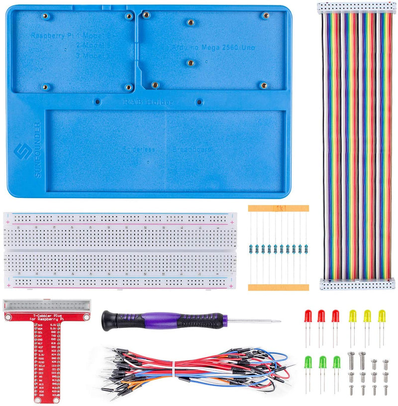 RAB Holder Kit with 830 Points Solderless Circuit for Raspberry Pi and Arduino