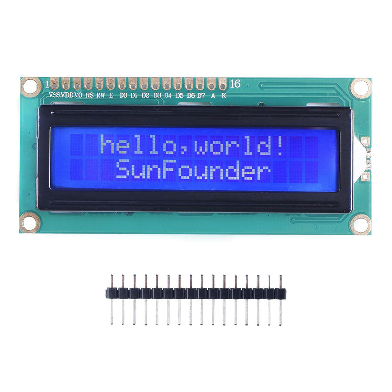 SunFounder LCD1602 Module with 3.3V Backlight