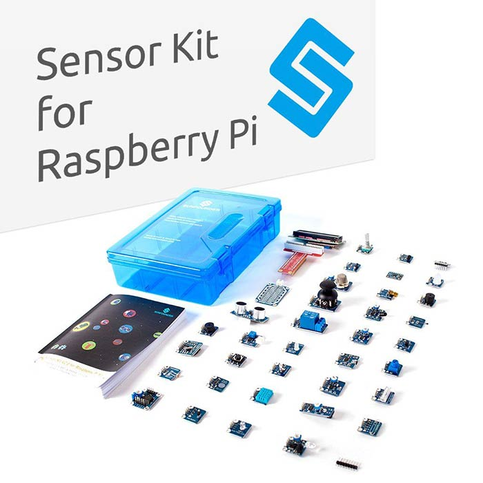 Sensor Kit for Raspberry Pi RPi 4B, 3 B+, 2B, A+, Zero with 37 Modules, including Raspberry Pi 4 and TF card
