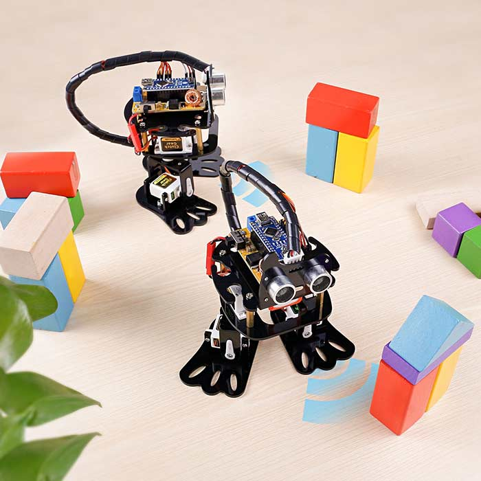 Robotic Kit for Arduino , 4-DOF Programmable DIY Sloth Robot Kit with Tutorial