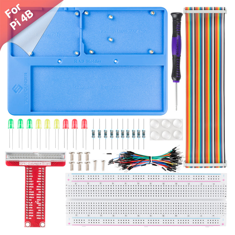 SunFounder RAB Holder Breadboard Kit with 830 points solderless circuit board for Raspberry Pi & Arduino
