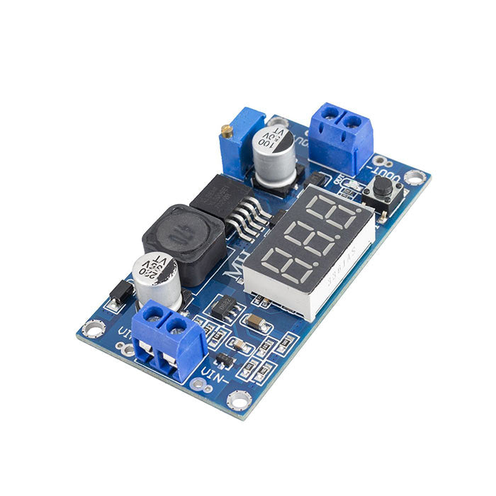 XL6009 DC-DC Adjustable Boost Module Voltmeter Display with Adjustable Output