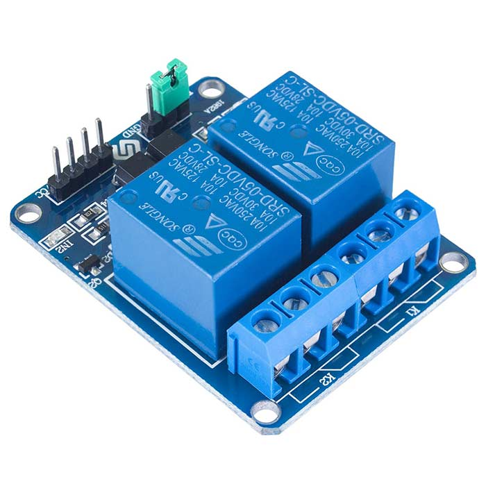 2 Channel DC 5V Relay Module with Optocoupler Low Level Trigger Expansion Board for Arduino Raspberry Pi
