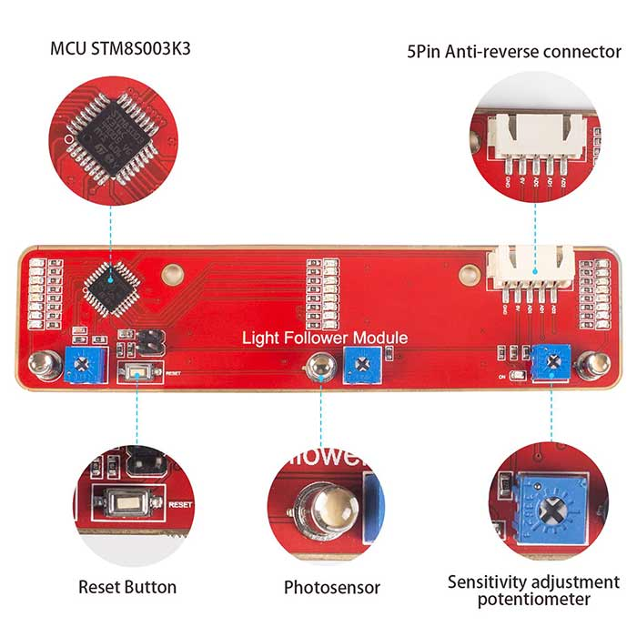 3-Channel 3du5c Phototransistor Light Follower Module