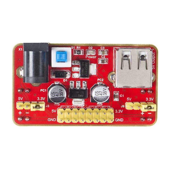 MB102 Breadboard Power Supply Module 3.3V/5V Solderless Breadboard