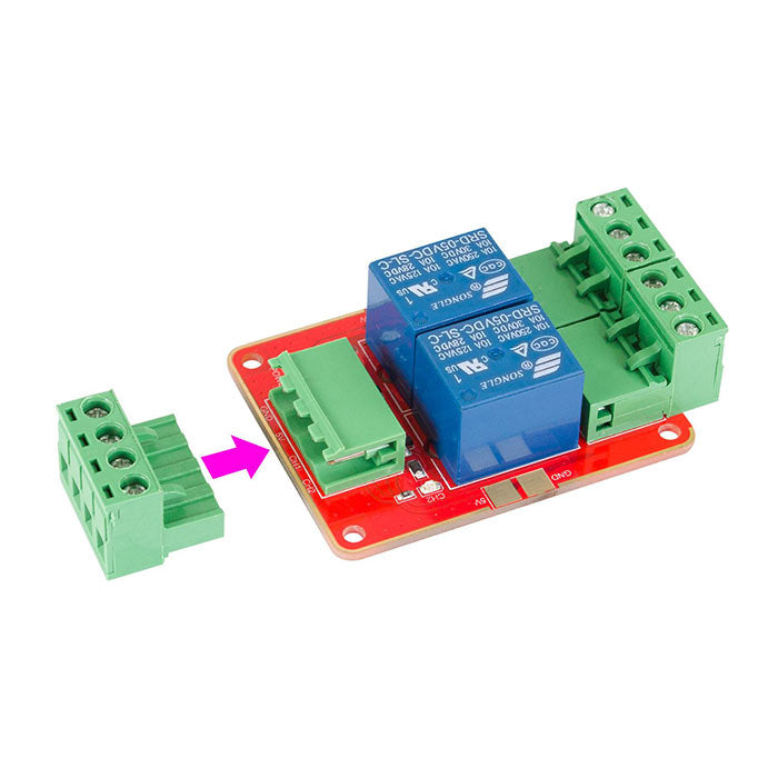 DC 5V Power Supply 2 Channel Relay Module with Optocoupler High Level Trigger Expansion Board