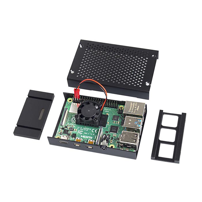 Aluminium Case With Cooling Fan for Raspberry Pi 4B