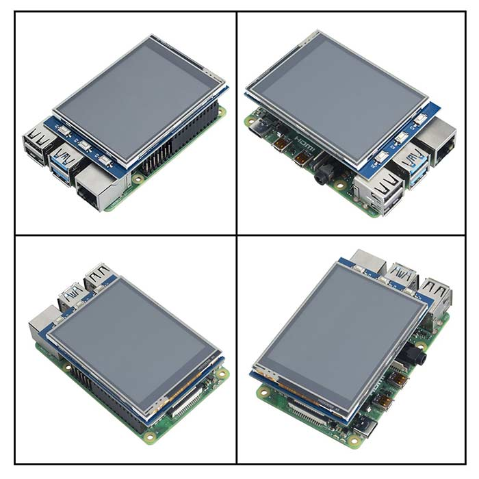 "2.8"" 320x240 TFT Resistive Touchscreen for Raspberry Pi"