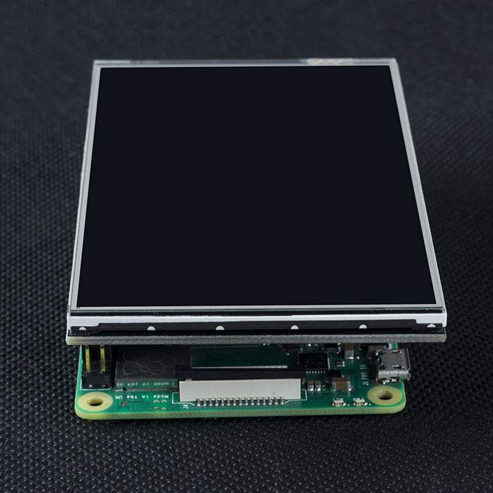 "4 ""HDMI IPS resistive touchscreen for Raspberry PI 4B / 3B+"