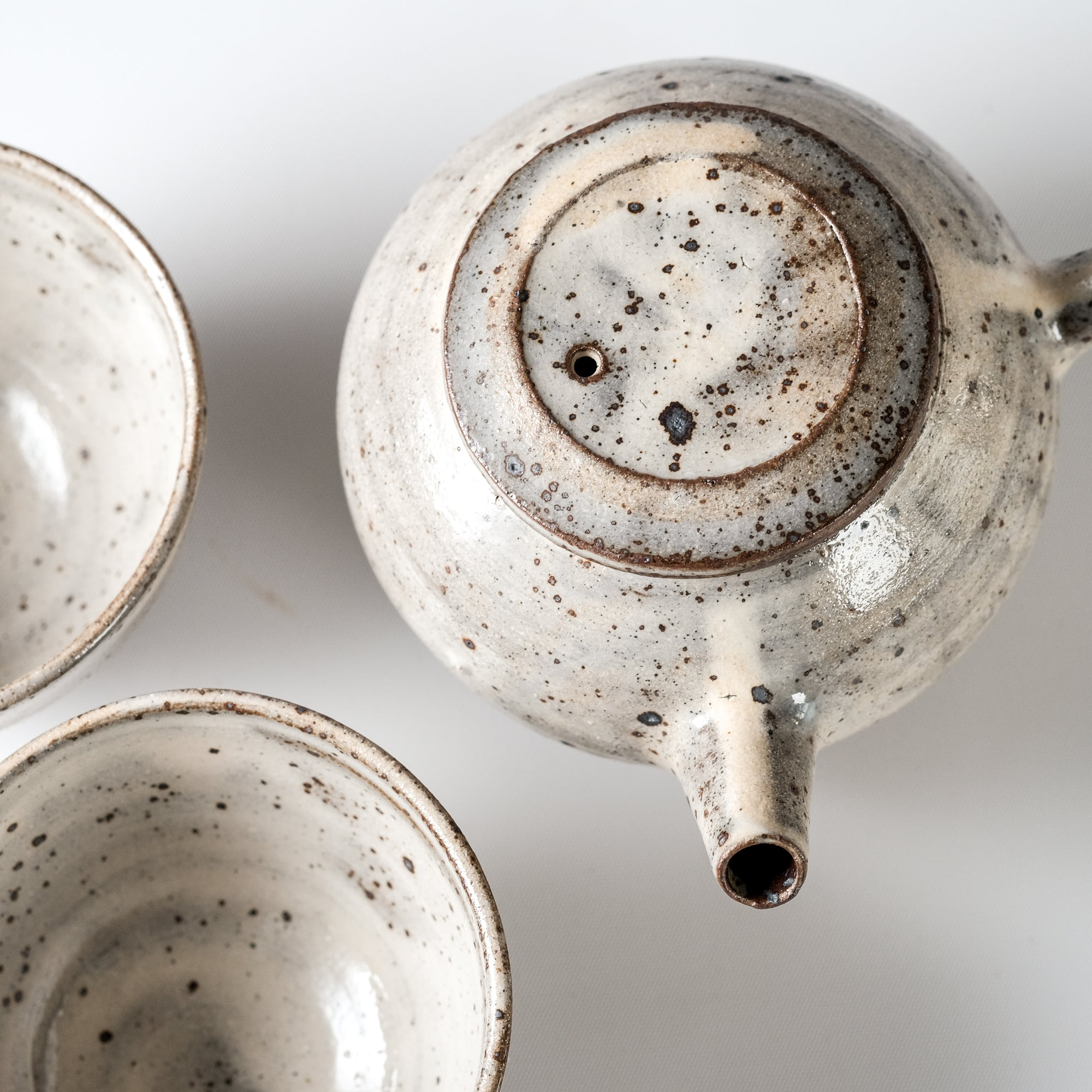 Teapot + Two cups