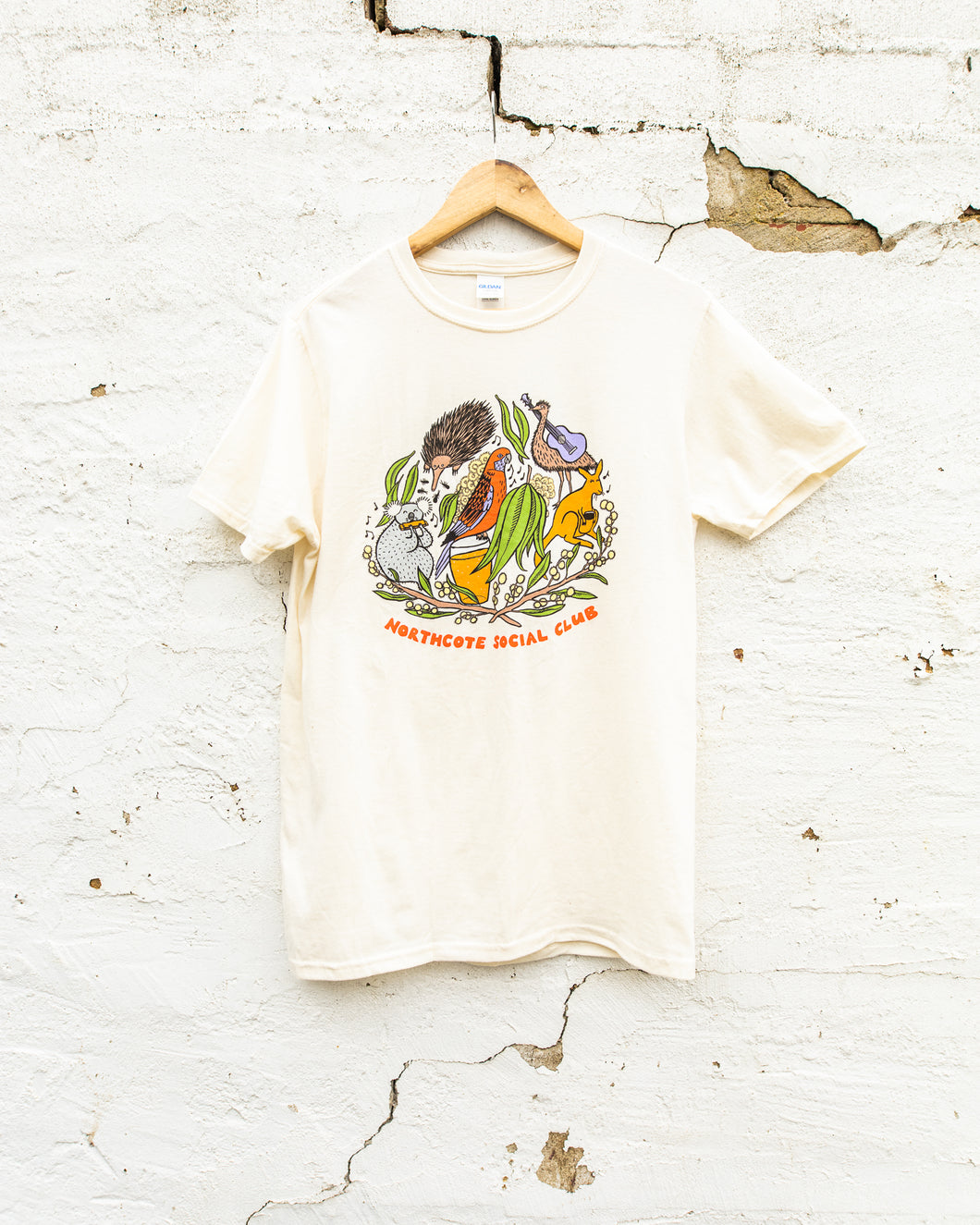 Northcote Social Club - Native Unisex Tee - Cream