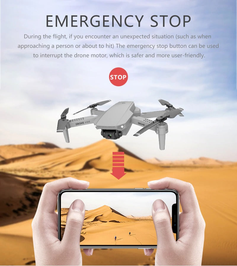 emergency stop button drone