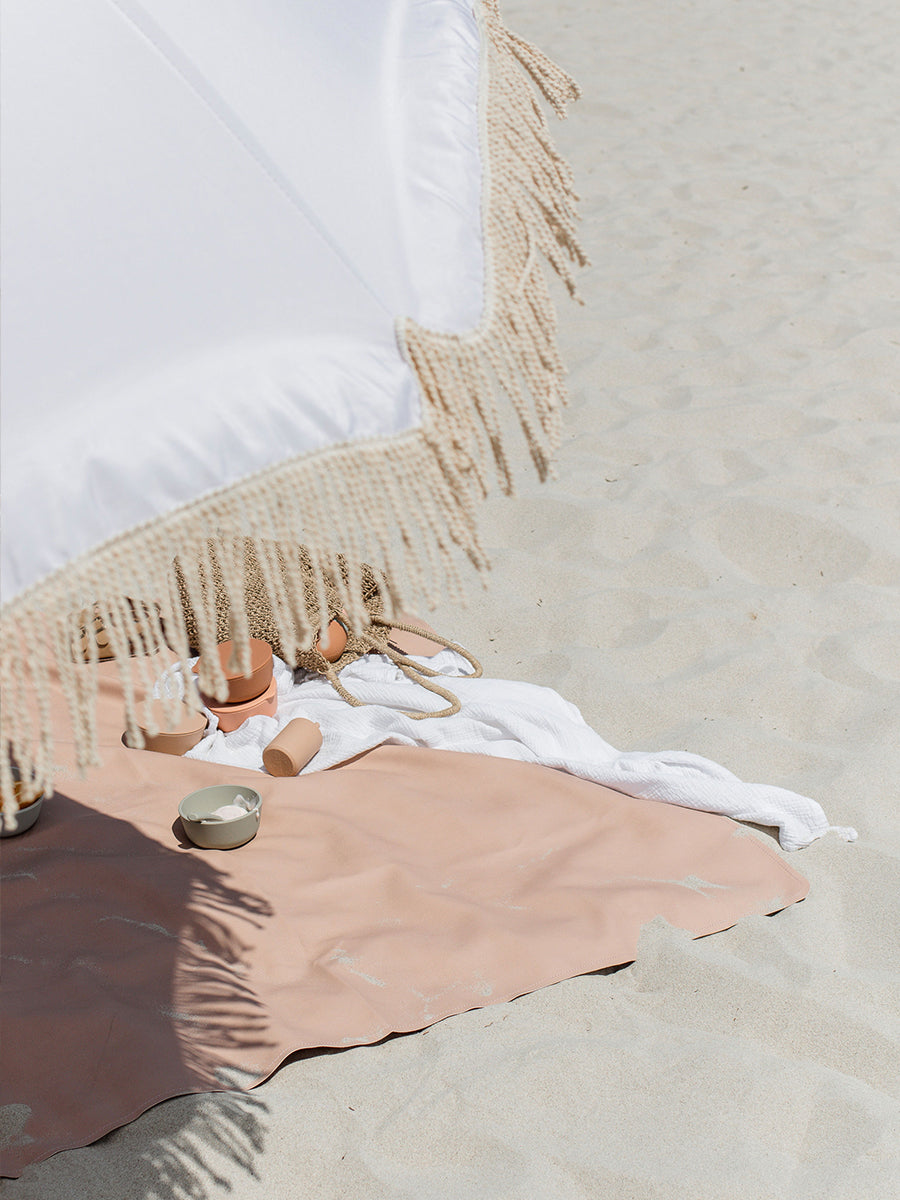 Faemli blush maxi leather beach mat Australia - baby goods for the modern family