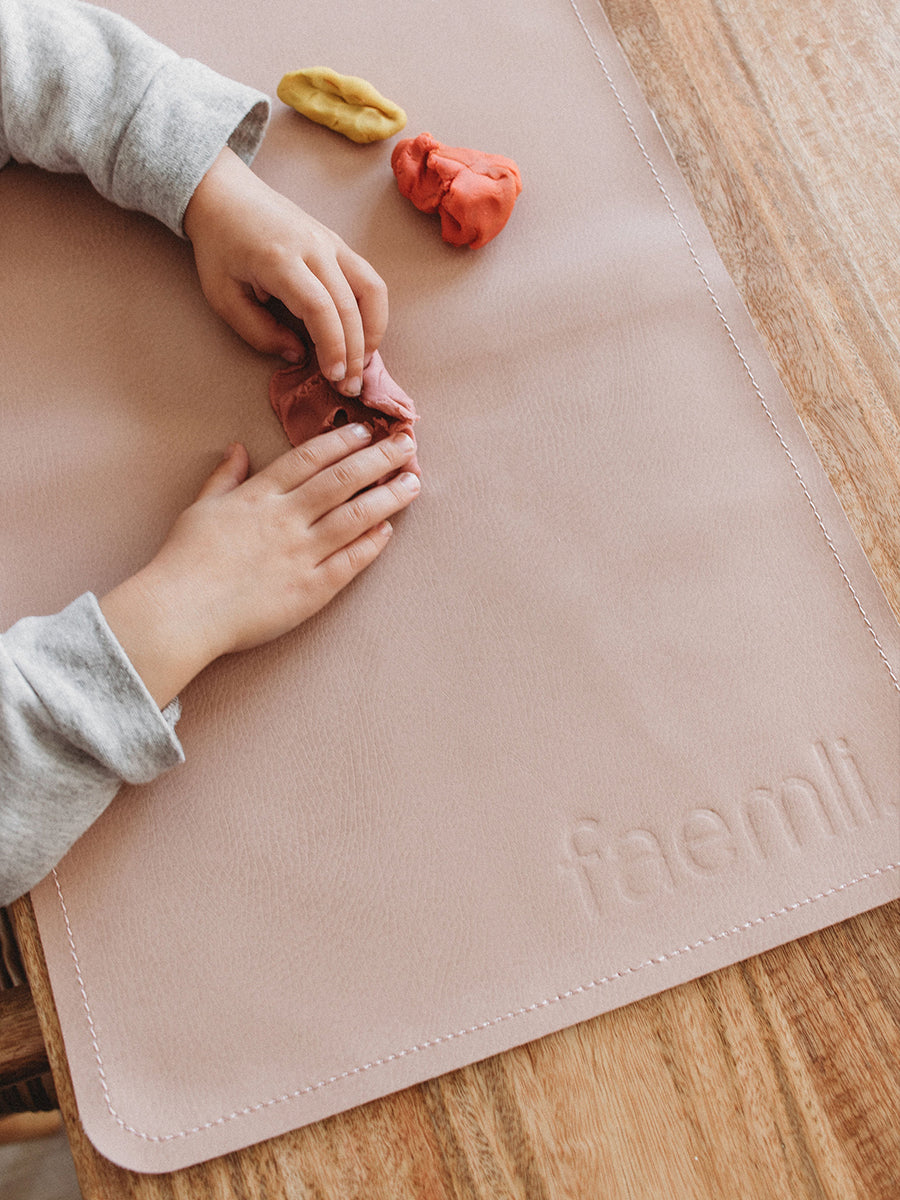 Faemli blush mini leather mat Australia - baby goods for the modern family