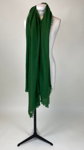 Grass Green Cashmere Felted Large Scarf