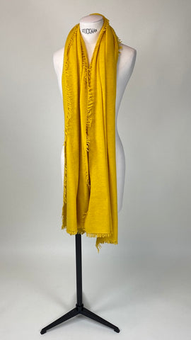 Lemon Yellow Cashmere Felted Large Scarf