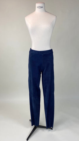 Blue Suede Legging Pants