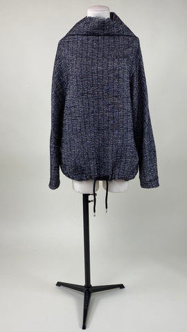 Cropped Grey Turtleneck Sweater Brian