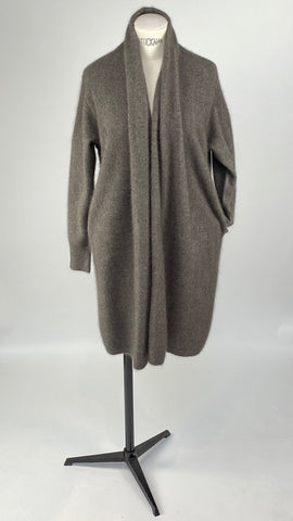 Long Sleeve Colshawl Greybrown Cardigan