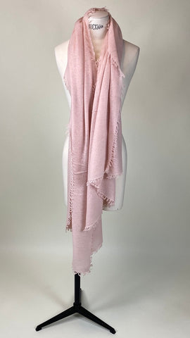 Blush Warm Pink Cashmere Felted Large Scarf
