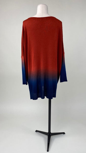 Chloë Long Sleeve Pullover Spice/Navy Ombre