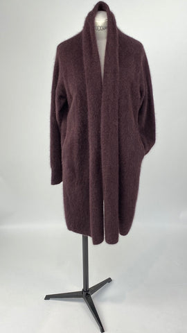 Long Sleeve Colshawl Bordeaux Cardigan