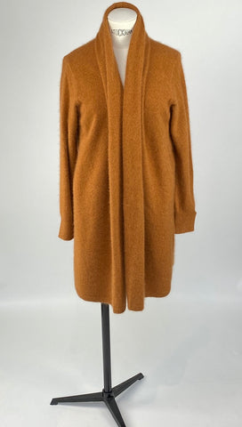 Long Sleeve Colshawl Dark Orange Cardigan
