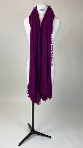 Orchid Purple Cashmere Felted Large Scarf