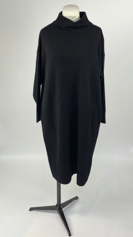 Cashmere Black Turtleneck Dress