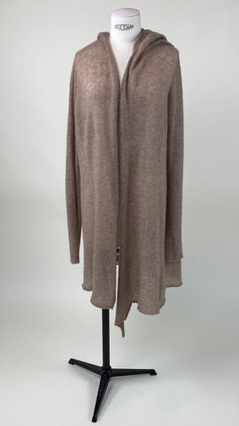 Hooded Long Sleeve Cardigan Ice Violet