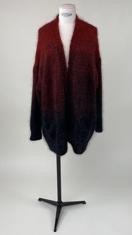 Carry Knitted Brick Degradé Cardigan