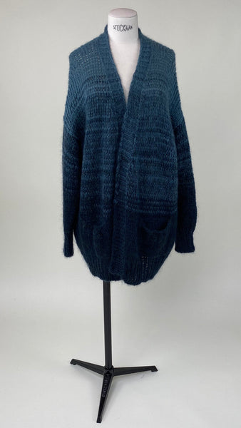 Carry Knitted Cardigan Steel Degradé