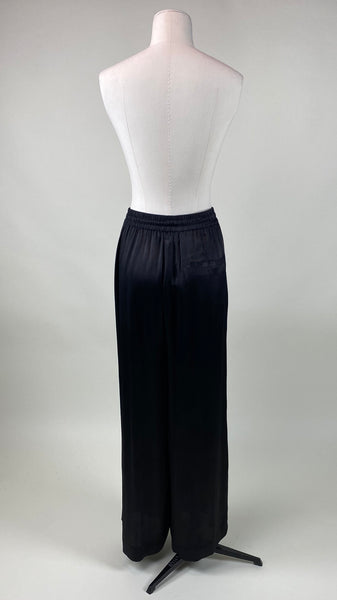 Molly Satin Look Plain Black Pants